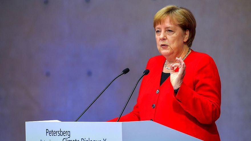 Angela Merkel addresses the 10th Petersburg Climate Dialogue