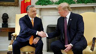 دونالد ترامپ، رئیس جمهوری آمریکا و ویکتور اوربان، نخست وزیر مجارسنان