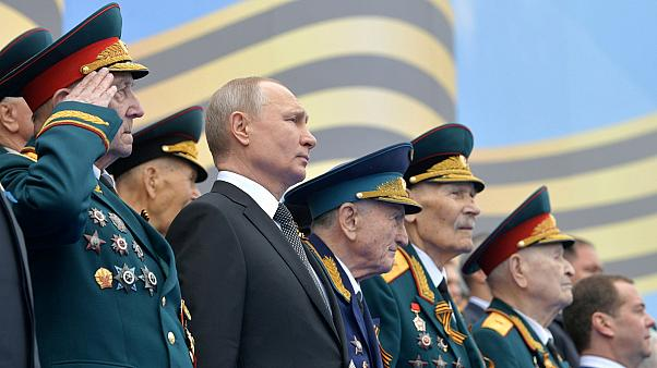 Vladimir Putin attends the Victory Day parade at the Kremlin.