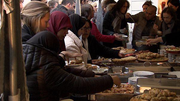 Brüksel'de Yahudi Müzesi'nde iftar yemeği verildi