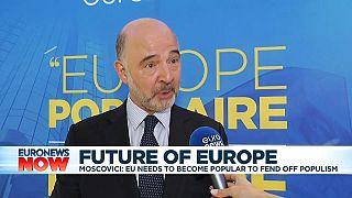 Moscovici advierte del peligro de no estar unidos contra el populismo