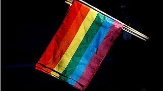 """علم """"قوس قزح"""" الخاص بمثليي وثنائيي الجنس والمتحولين جنسيا"""