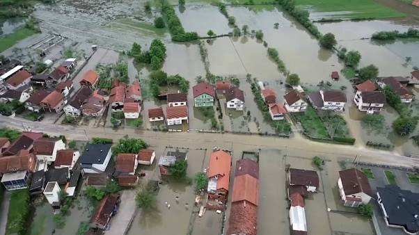 Homes flooded as rivers burst banks in Bosnia