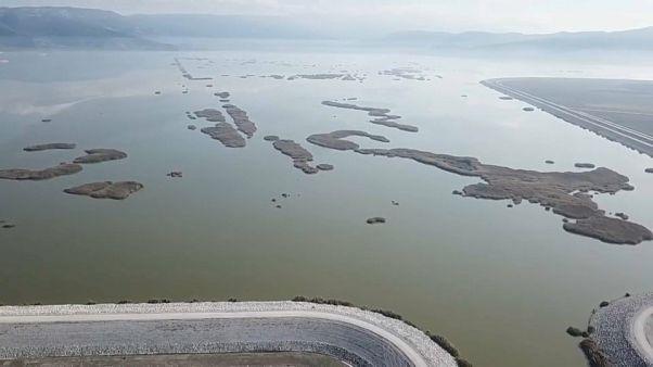 Il lago Karla, in Tessaglia, Grecia