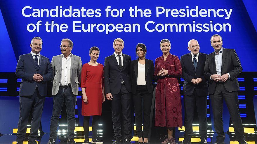 A tévévita résztvevői, a bizottsági jelöltek
