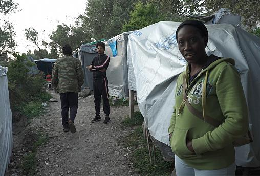 "Sarah, asylum seeker from Uganda, takes us on tour of the Samos ""jungle"""