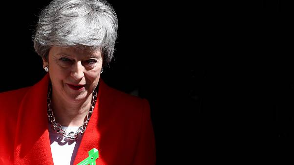 Theresa May esce da Downing Street, 15/05/2019  REUTERS/Hannah Mckay