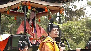 Színpompás fesztivál Kiotóban a reiva-korszak jegyében