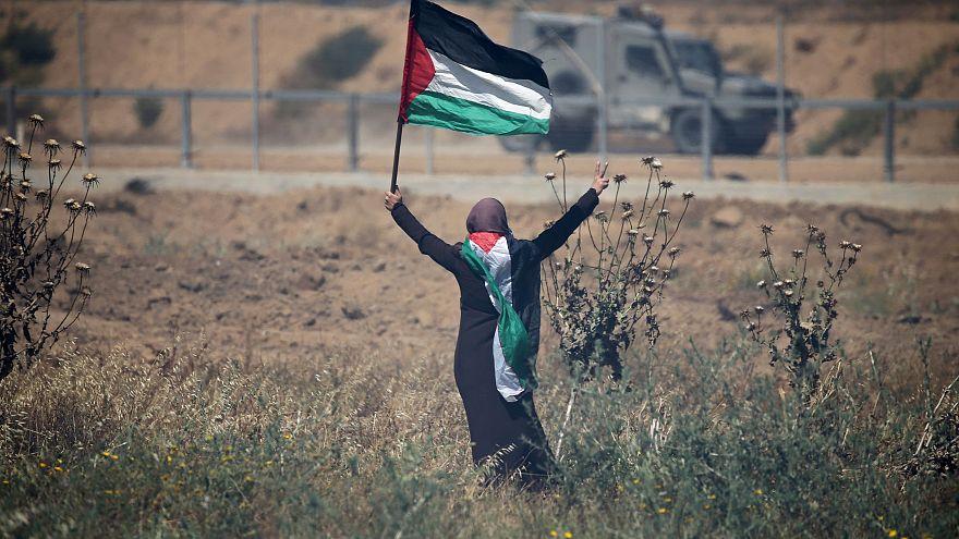 إصابة عشرات الفلسطينيين في احتجاجات عند حدود غزة في ذكرى النكبة