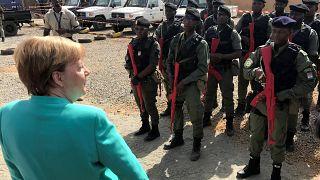 المستشارة الألمانية أنجيلا ميركل تزور بعثة شرطة في نيامي/النيجر/3مايو2019