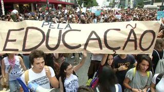 A manifestação em São Paulo ocupou dois quilómetros da Avenida Paulista