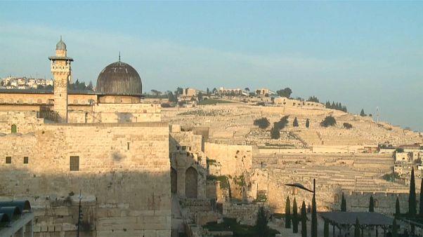 جانب للمصلى القبلي من المسجد الأقصى في مدينة القدس