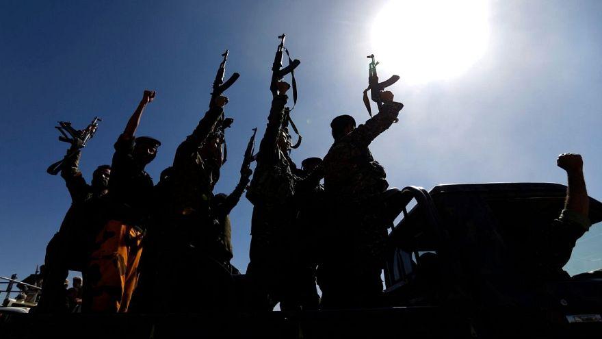نیروهای حوثی در صنعا، یمن
