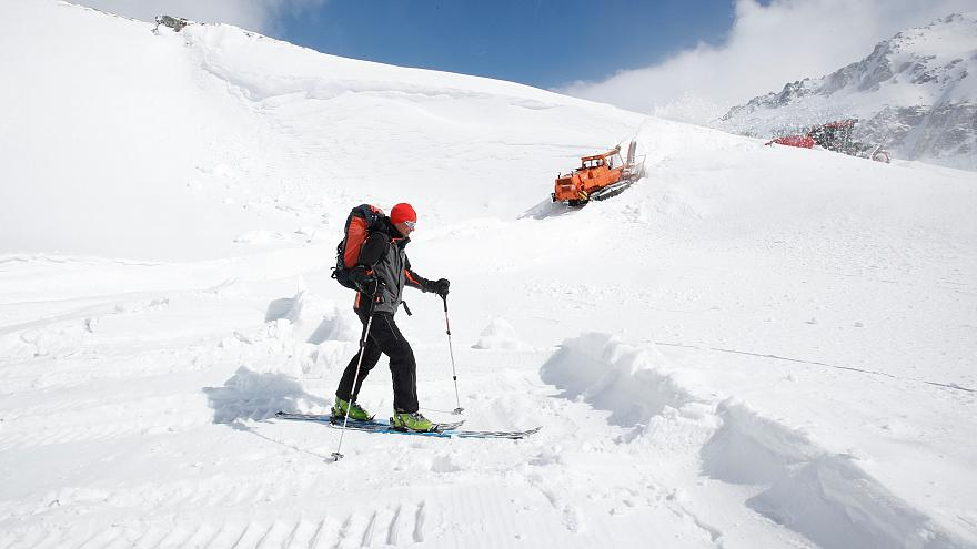 Snow joke: Austria ski resort reopens for the first time in May