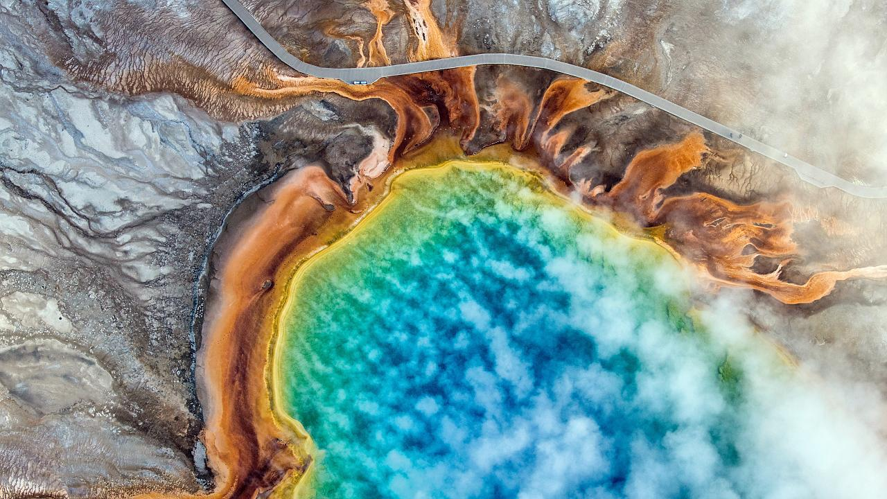 10/16/18, Grand Prismatic Spring.Yellowstone National Park.
