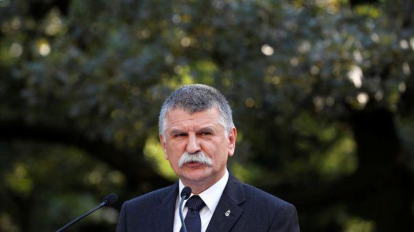 El presidente del Parlamento húngaro, Laszlo Kover.
