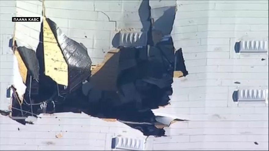 ΗΠΑ:Συντριβή F-16 σε αποθήκη