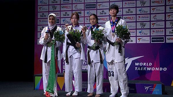 İranlı kadın sporcu Dünya Tekvando Şampiyonası'nda madalya kazandı