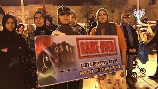 Clamor en las calles de Trípoli contra Khalifa Haftar