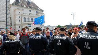 Demonstranten fordern Neuwahlen nach Strache-Affäre