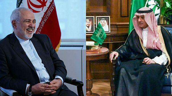 İran Dışişleri Bakanı Zarif, Suudi Dışişleri Bakanı el Cübeyr