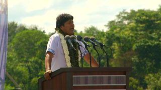 Evo Morales lanza su campaña para las presidenciales de octubre