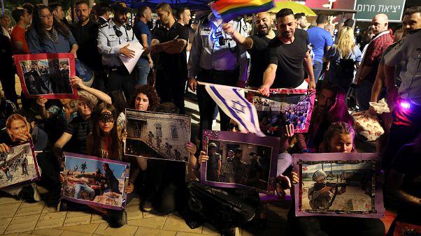 BDS destekçileri Tel Aviv'de Eurovision'u protesto etti
