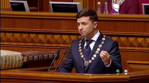 Präsident Wolodymyr Selenskyj vereidigt