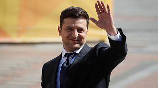 Ukraine's President-elect Volodymyr Zelensky, Kyiv