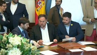 Freigang aus U-Haft: Fünf katalanische Separatisten unterzeichnen Mandat