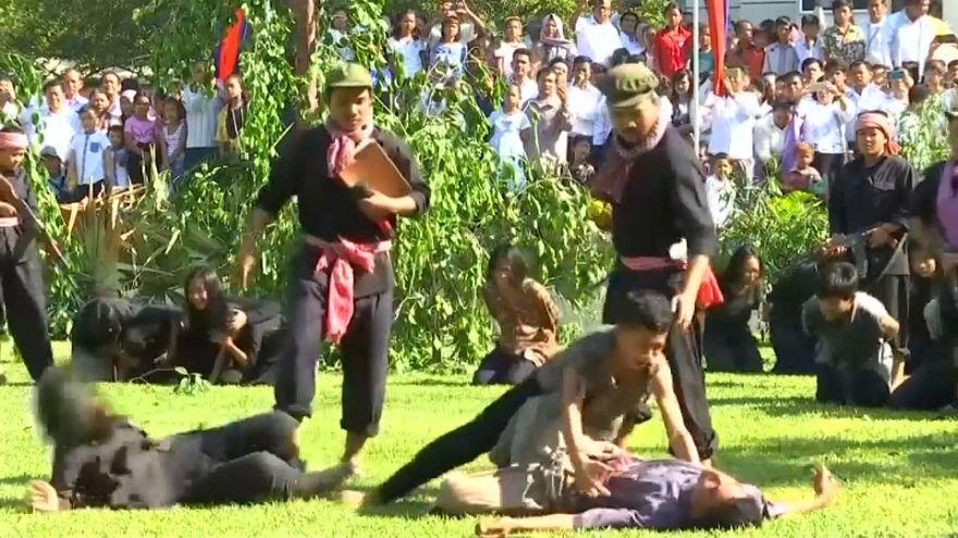 ویدئو؛ گرامیداشت یاد قربانیان رژیم خمرهای سرخ