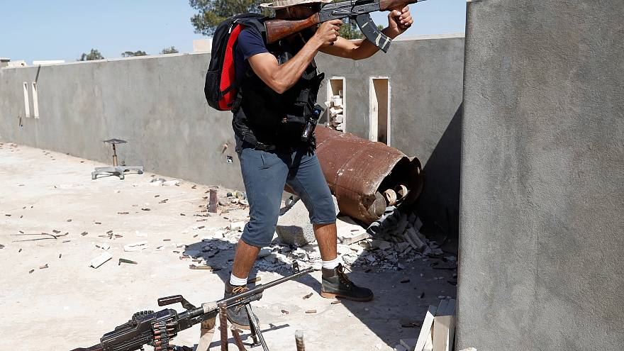A fighter loyal to Libya's GNA on the outskirts of Tripoli on May 16, 2019.