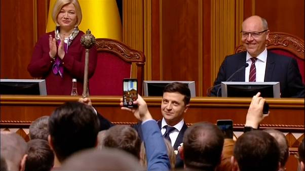 TV comedian Zelensky sworn in as President of Ukraine