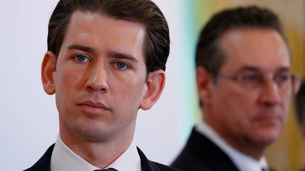 Sebastian Kurz and Heinz-Christian Strache on March 6, 2019.