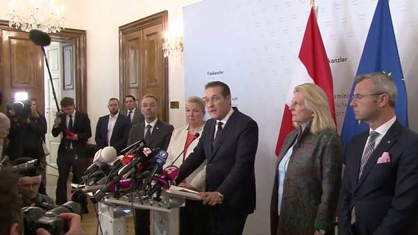 Austrian politician Heinz-Christian Strache resigns on May 18, 2019