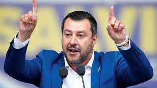 Italy's Deputy Prime Minister Matteo Salvini on May 18, 2019.