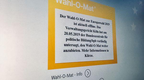 Der Wahl-O-Mat war am Dienstag nicht erreichbar