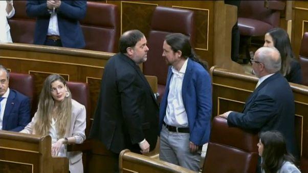 Nem volt szokványos a spanyol parlament alakulóülése