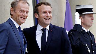 Emmanuel Macron en première ligne pour les Européennes