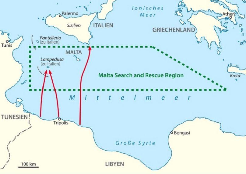 Italien Karte Lampedusa.Reportage Die Fluchtlinge Haben Nie Aufgehort In