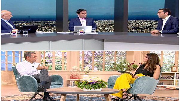 Τσίπρας-Μητσοτάκης: Τηλεοπτικές κόντρες στο παρά πέντε των εκλογών