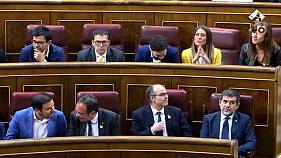 Spanish first as jailed Catalan leaders sworn-in at parliament