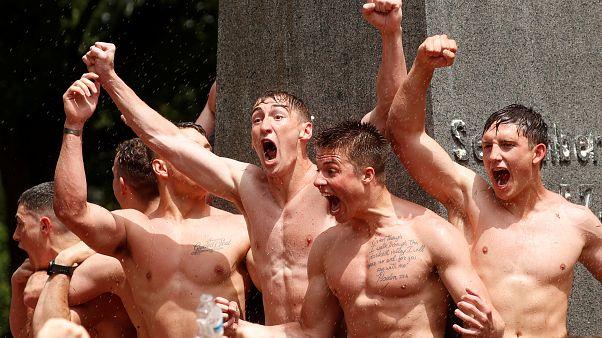 Rekruten der US-amerikanischen Marineakadamie in Maryland