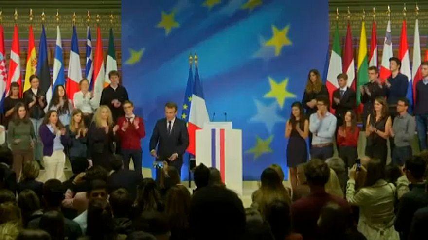 Le Pen empatada com Macron nas europeias