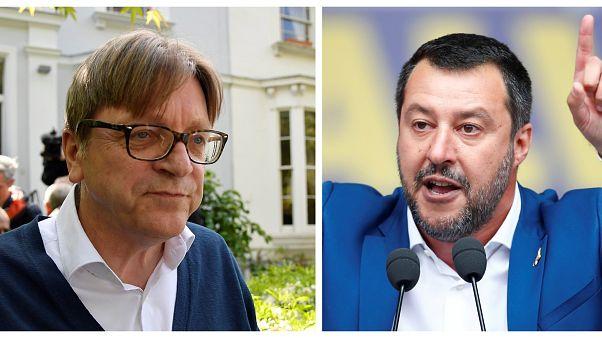 """Elezioni europee, Verhofstadt sfida Salvini ad un """"dibattito uno contro uno"""""""