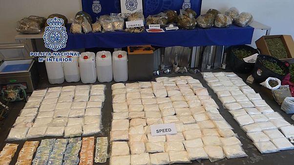 La policía española se incauta de 178 kilos de cristal, la mayor cantidad hasta la fecha