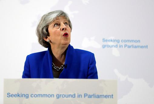 Theresa May dangles carrot of second referendum if MPs back her Brexit deal