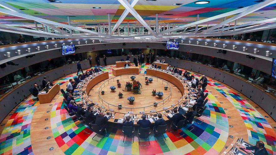 Az Európai Tanács üléesterme belülről