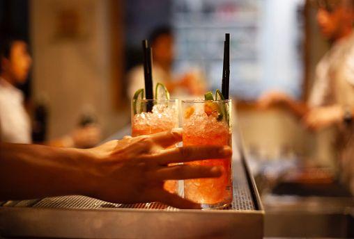 Cocktails using plastic straws