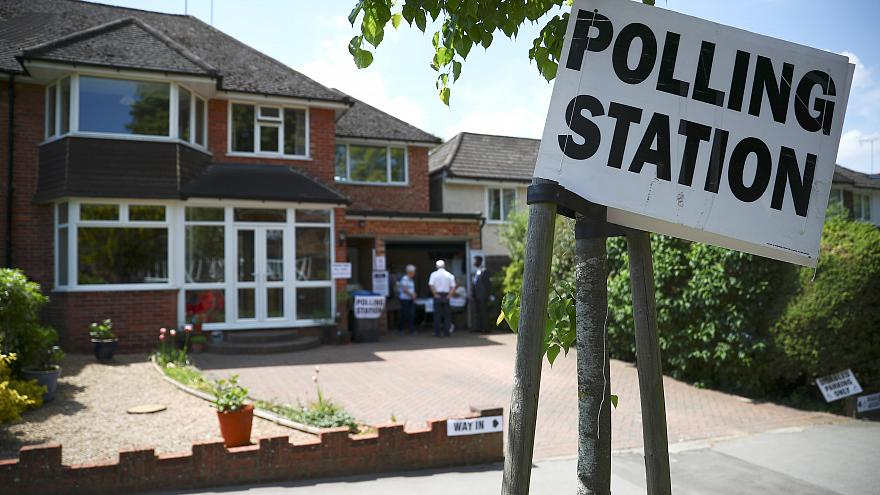 A residential house used as a polling station for the EU elections